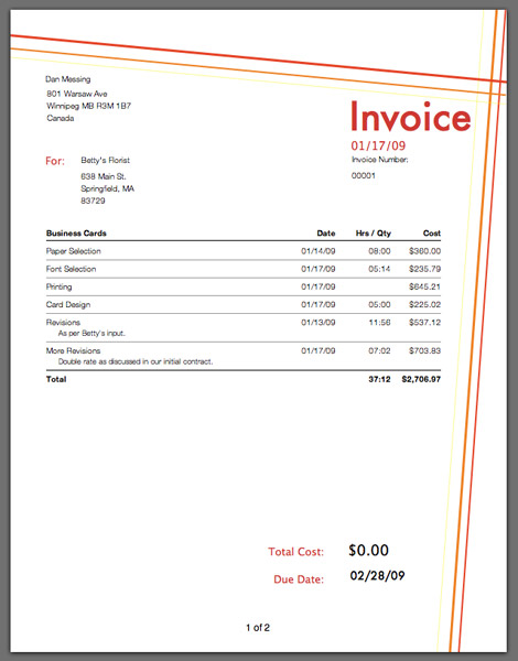 freelance invoice software