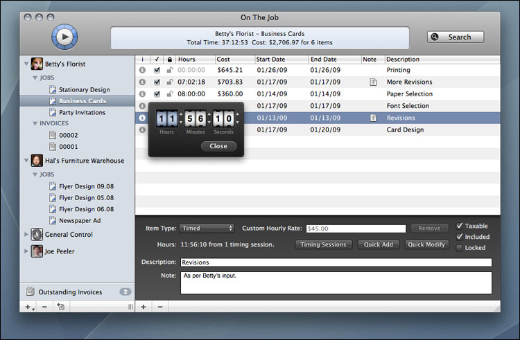 On The Job Professional Time Expense Tracking And Invoicing - Timekeeping and invoicing software